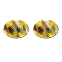 Multi Colored Seamless Abstract Background Cufflinks (oval) by Simbadda