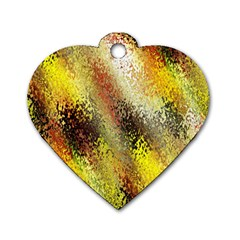Multi Colored Seamless Abstract Background Dog Tag Heart (one Side)