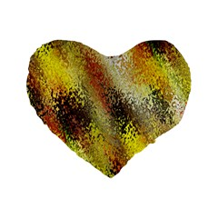Multi Colored Seamless Abstract Background Standard 16  Premium Heart Shape Cushions by Simbadda