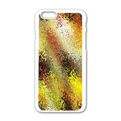 Multi Colored Seamless Abstract Background Apple Iphone 6/6s White Enamel Case by Simbadda