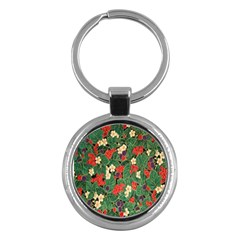 Berries And Leaves Key Chains (round)  by Simbadda