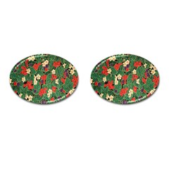 Berries And Leaves Cufflinks (oval) by Simbadda