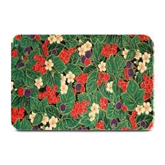Berries And Leaves Plate Mats by Simbadda