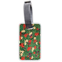 Berries And Leaves Luggage Tags (one Side)  by Simbadda