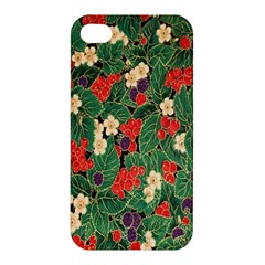 Berries And Leaves Apple Iphone 4/4s Hardshell Case by Simbadda
