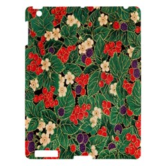 Berries And Leaves Apple Ipad 3/4 Hardshell Case by Simbadda
