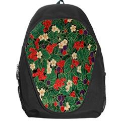 Berries And Leaves Backpack Bag by Simbadda