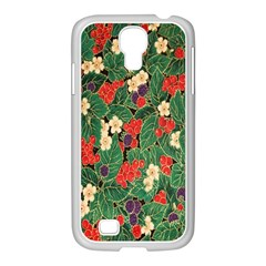 Berries And Leaves Samsung Galaxy S4 I9500/ I9505 Case (white) by Simbadda