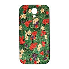 Berries And Leaves Samsung Galaxy S4 I9500/i9505  Hardshell Back Case by Simbadda