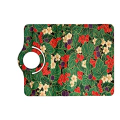 Berries And Leaves Kindle Fire Hd (2013) Flip 360 Case by Simbadda