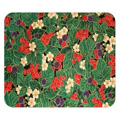 Berries And Leaves Double Sided Flano Blanket (small)  by Simbadda