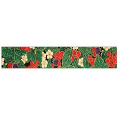 Berries And Leaves Flano Scarf (large) by Simbadda