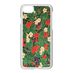 Berries And Leaves Apple Iphone 7 Seamless Case (white) by Simbadda