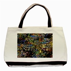 Multi Color Peacock Feathers Basic Tote Bag