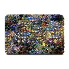 Multi Color Peacock Feathers Plate Mats by Simbadda