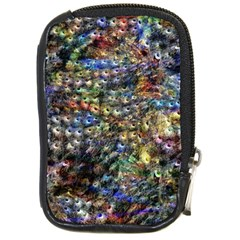 Multi Color Peacock Feathers Compact Camera Cases by Simbadda