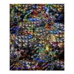 Multi Color Peacock Feathers Shower Curtain 60  X 72  (medium)  by Simbadda