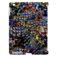 Multi Color Peacock Feathers Apple Ipad 3/4 Hardshell Case (compatible With Smart Cover) by Simbadda