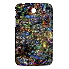 Multi Color Peacock Feathers Samsung Galaxy Tab 3 (7 ) P3200 Hardshell Case  by Simbadda