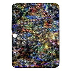 Multi Color Peacock Feathers Samsung Galaxy Tab 3 (10 1 ) P5200 Hardshell Case  by Simbadda