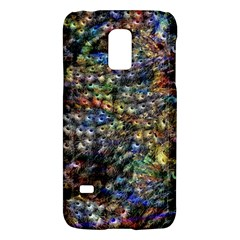 Multi Color Peacock Feathers Galaxy S5 Mini by Simbadda