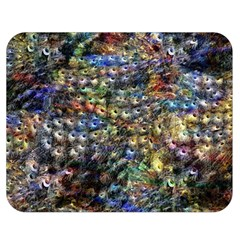 Multi Color Peacock Feathers Double Sided Flano Blanket (medium)  by Simbadda