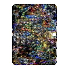 Multi Color Peacock Feathers Samsung Galaxy Tab 4 (10 1 ) Hardshell Case  by Simbadda