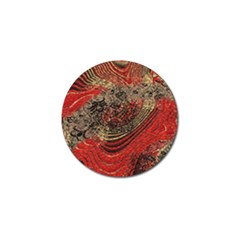 Red Gold Black Background Golf Ball Marker (10 Pack) by Simbadda