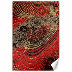 Red Gold Black Background Canvas 20  X 30   by Simbadda