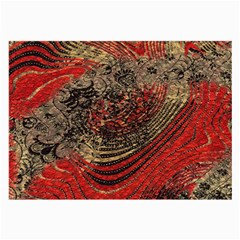 Red Gold Black Background Large Glasses Cloth by Simbadda