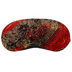 Red Gold Black Background Sleeping Masks by Simbadda