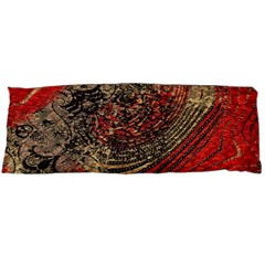 Red Gold Black Background Body Pillow Case Dakimakura (two Sides) by Simbadda