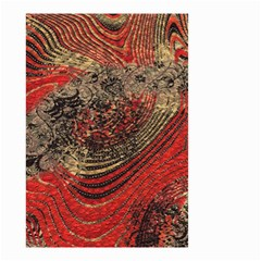Red Gold Black Background Small Garden Flag (two Sides) by Simbadda