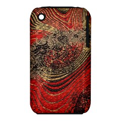 Red Gold Black Background Iphone 3s/3gs by Simbadda
