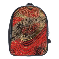 Red Gold Black Background School Bags (xl)  by Simbadda