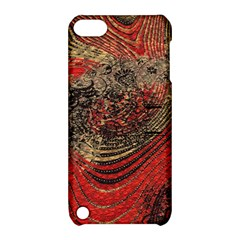 Red Gold Black Background Apple Ipod Touch 5 Hardshell Case With Stand by Simbadda