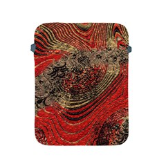 Red Gold Black Background Apple Ipad 2/3/4 Protective Soft Cases by Simbadda