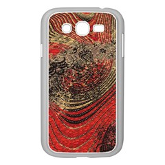 Red Gold Black Background Samsung Galaxy Grand Duos I9082 Case (white) by Simbadda