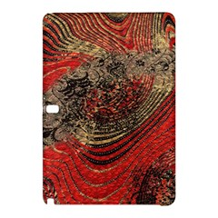 Red Gold Black Background Samsung Galaxy Tab Pro 12 2 Hardshell Case by Simbadda