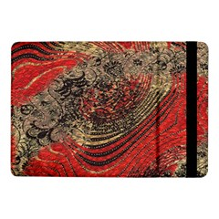 Red Gold Black Background Samsung Galaxy Tab Pro 10 1  Flip Case by Simbadda