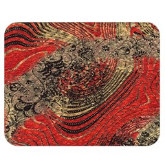 Red Gold Black Background Double Sided Flano Blanket (medium)  by Simbadda