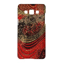 Red Gold Black Background Samsung Galaxy A5 Hardshell Case  by Simbadda