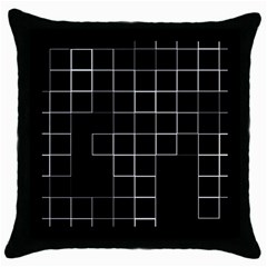 Abstract Clutter Throw Pillow Case (black) by Simbadda
