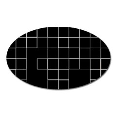 Abstract Clutter Oval Magnet by Simbadda