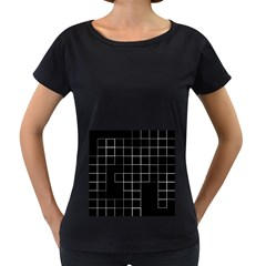 Abstract Clutter Women s Loose Fit T Shirt (black)