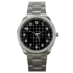 Abstract Clutter Sport Metal Watch by Simbadda
