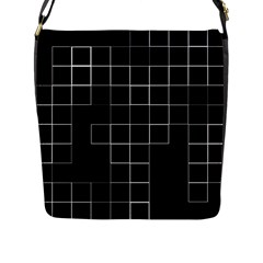 Abstract Clutter Flap Messenger Bag (l)  by Simbadda