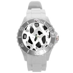 Abstract Venture Round Plastic Sport Watch (l) by Simbadda