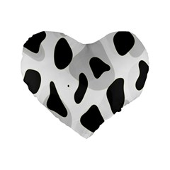 Abstract Venture Standard 16  Premium Flano Heart Shape Cushions by Simbadda