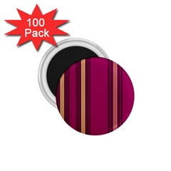 Stripes Background Wallpaper In Purple Maroon And Gold 1 75  Magnets (100 Pack)  by Simbadda